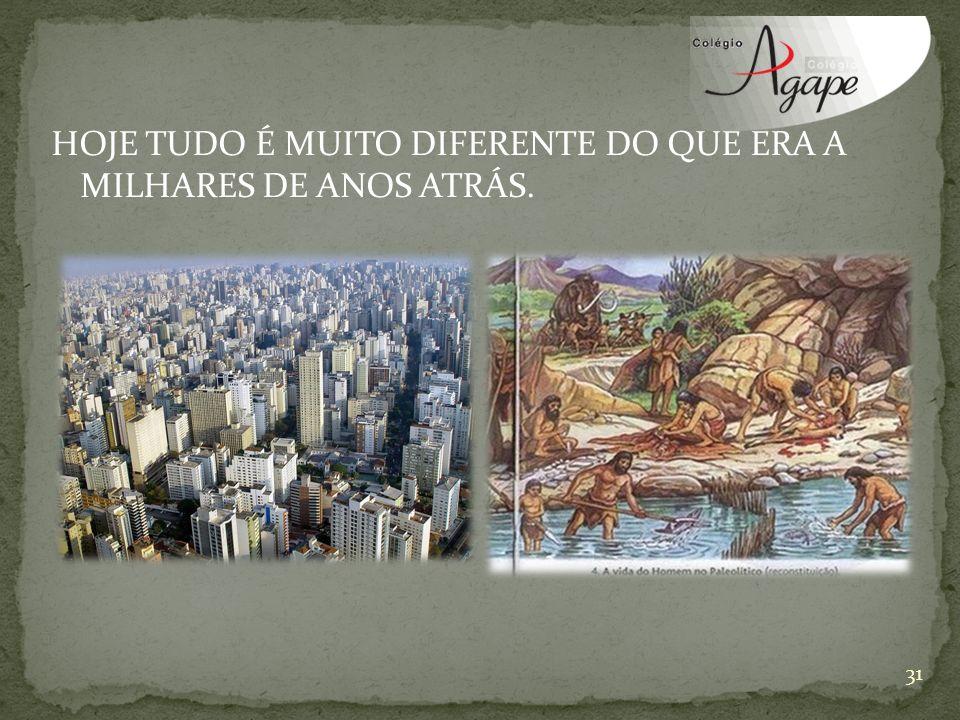 HOJE TUDO É MUITO DIFERENTE DO QUE ERA A MILHARES DE ANOS ATRÁS. 31