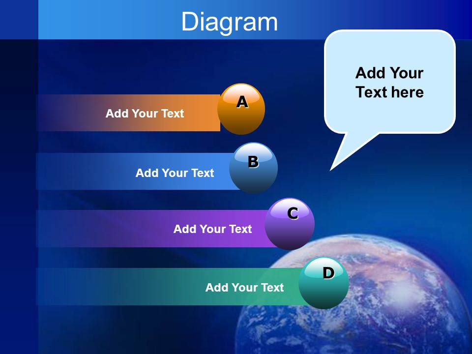 Diagram A Add Your Text B C D Add Your Text here