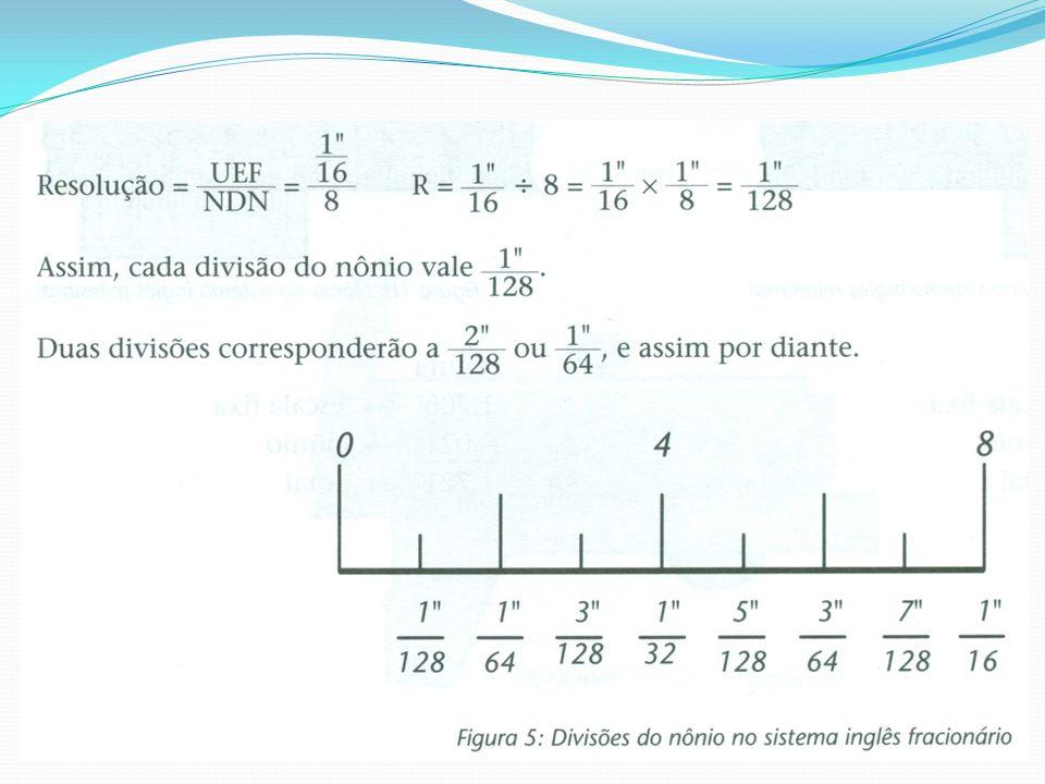 A partir daí, vale a explicação dada no item anterior: adicionar à leitura da escala fixa a do nônio.