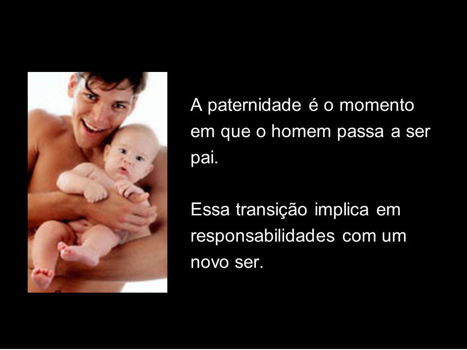 A paternidade é o momento em que o homem passa a ser pai. Essa transição implica em responsabilidades com um novo ser.