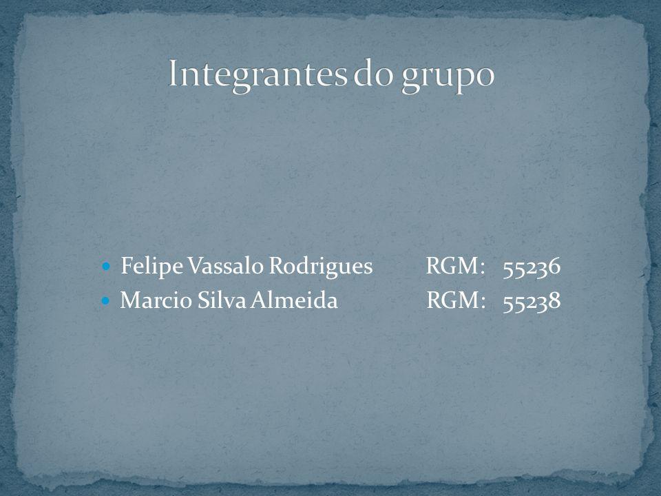 Felipe Vassalo Rodrigues RGM: 55236 Marcio Silva Almeida RGM: 55238