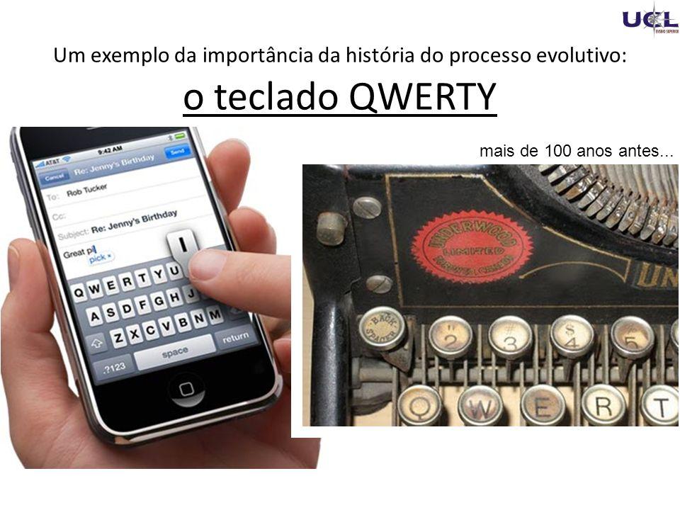 Um exemplo da importância da história do processo evolutivo: o teclado QWERTY mais de 100 anos antes...
