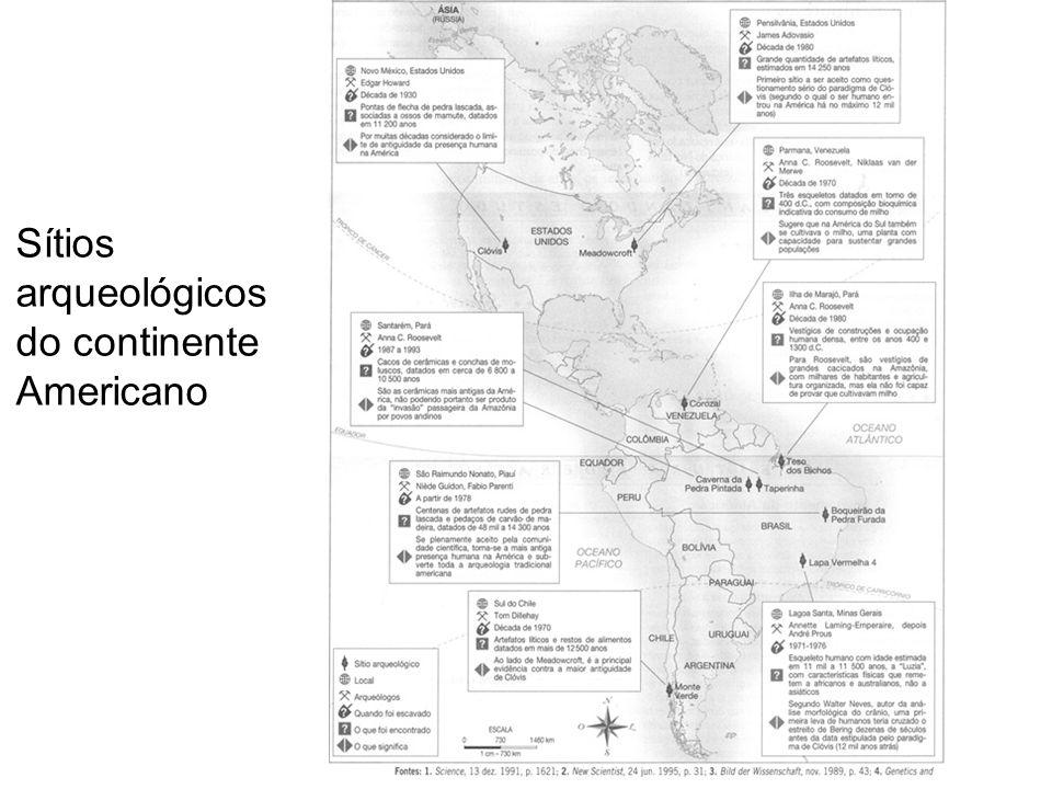 Sítios arqueológicos do continente Americano