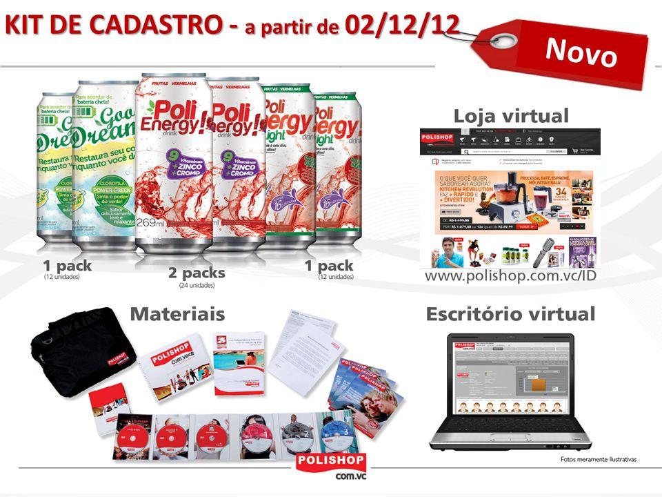 Novo KIT DE CADASTRO - a partir de 02/12/12