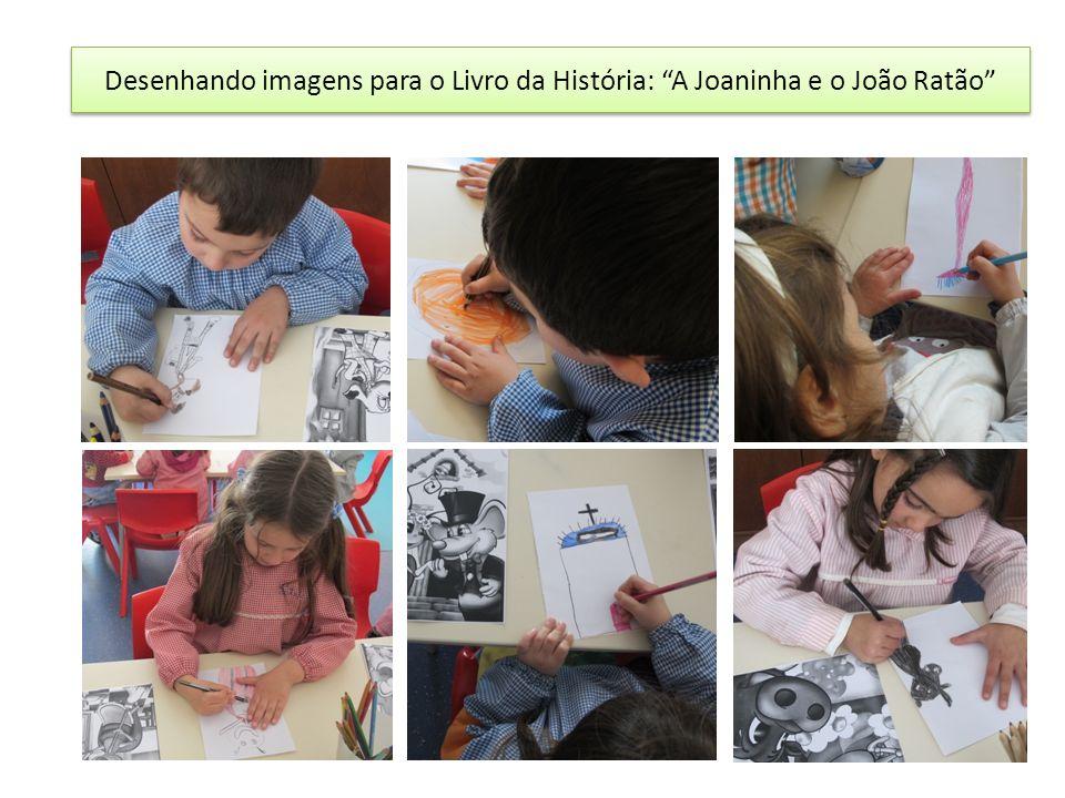 Desenhando imagens para o Livro da História: A Joaninha e o João Ratão