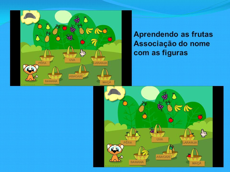 Aprendendo as frutas Associação do nome com as figuras