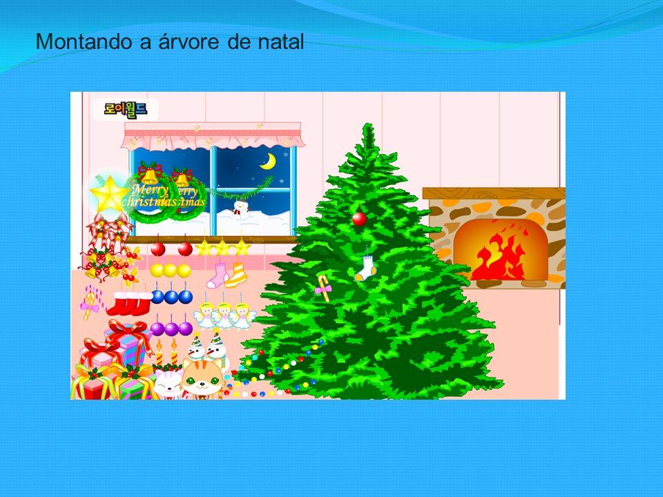 Montando a árvore de natal