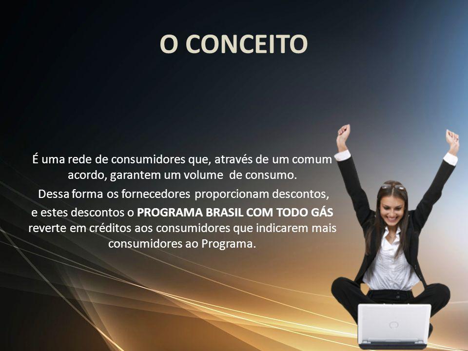 O CONCEITO É uma rede de consumidores que, através de um comum acordo, garantem um volume de consumo. Dessa forma os fornecedores proporcionam descont