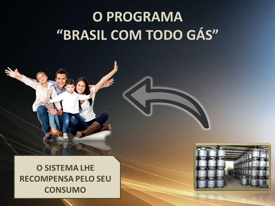 O PROGRAMA BRASIL COM TODO GÁS O SISTEMA LHE RECOMPENSA PELO SEU CONSUMO