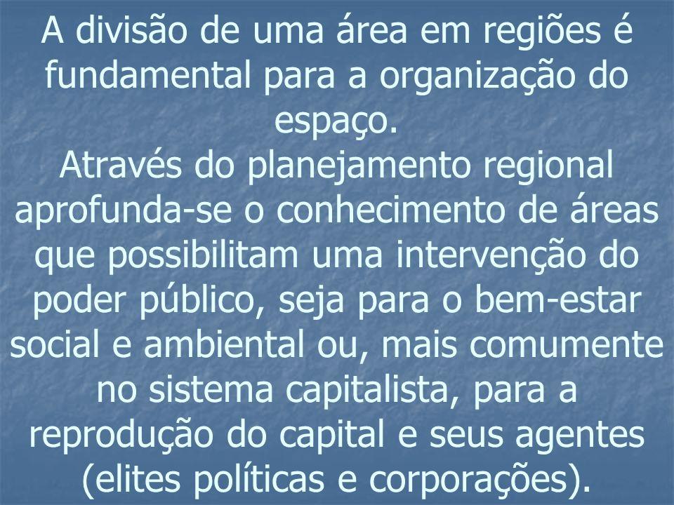 DIVISÃO REGIONAL (1969) - Base da atual divisão regional.