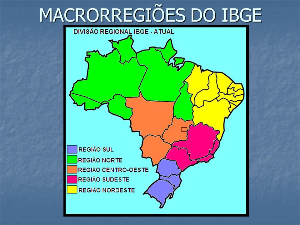 MACRORREGIÕES DO IBGE