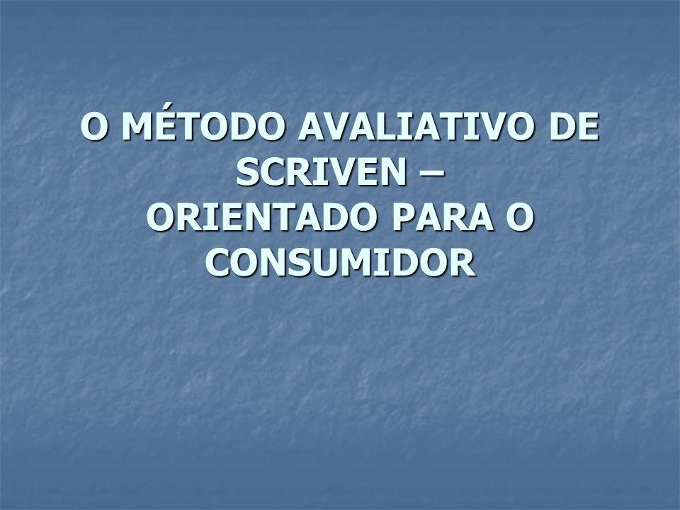 A avaliação formativa: A avaliação formativa: Termo proposto por Scriven nos anos 60.
