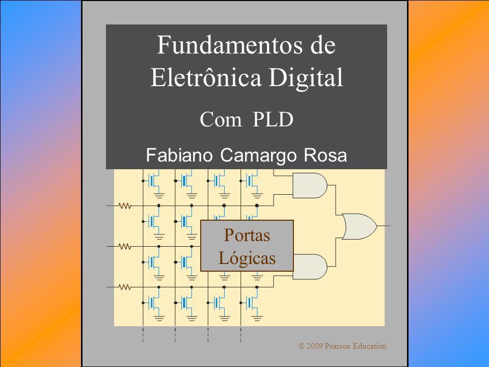 Sistemas DigitaisFabiano Camargo Rosa Fundamentos de Eletrônica Digital Com PLD Fabiano Camargo Rosa © 2009 Pearson Education Portas Lógicas