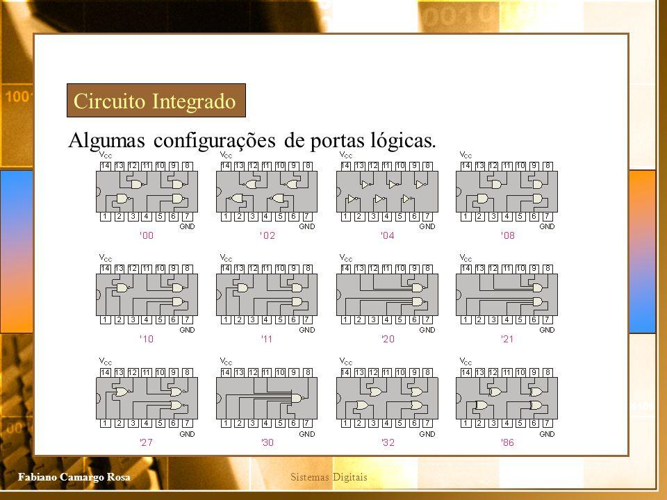 Sistemas DigitaisFabiano Camargo Rosa Algumas configurações de portas lógicas. Circuito Integrado