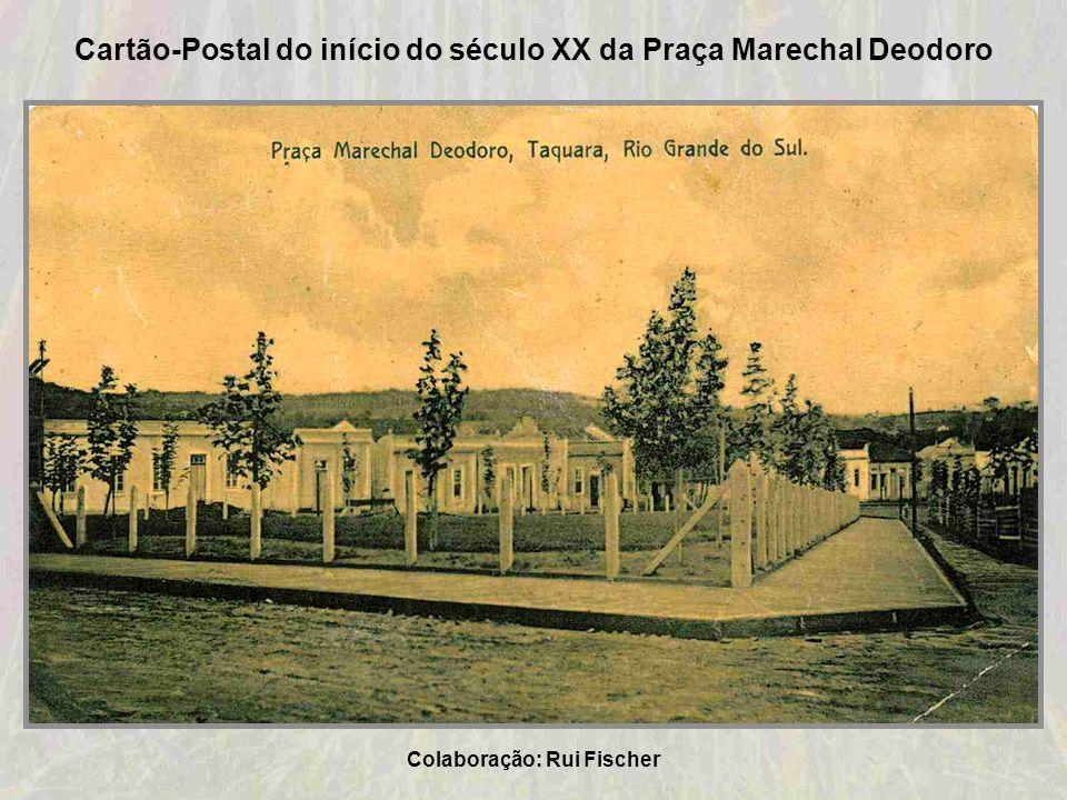 1910-Rua Tristão Monteiro (ao fundo a Intendência - Prefeitura Municipal) Colaboração: Luiz Eduardo Heller (Banda)