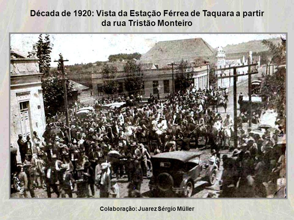 1919-Time de Futebol do Sport Club Taquarense Colaboração: Geraldo Lauck