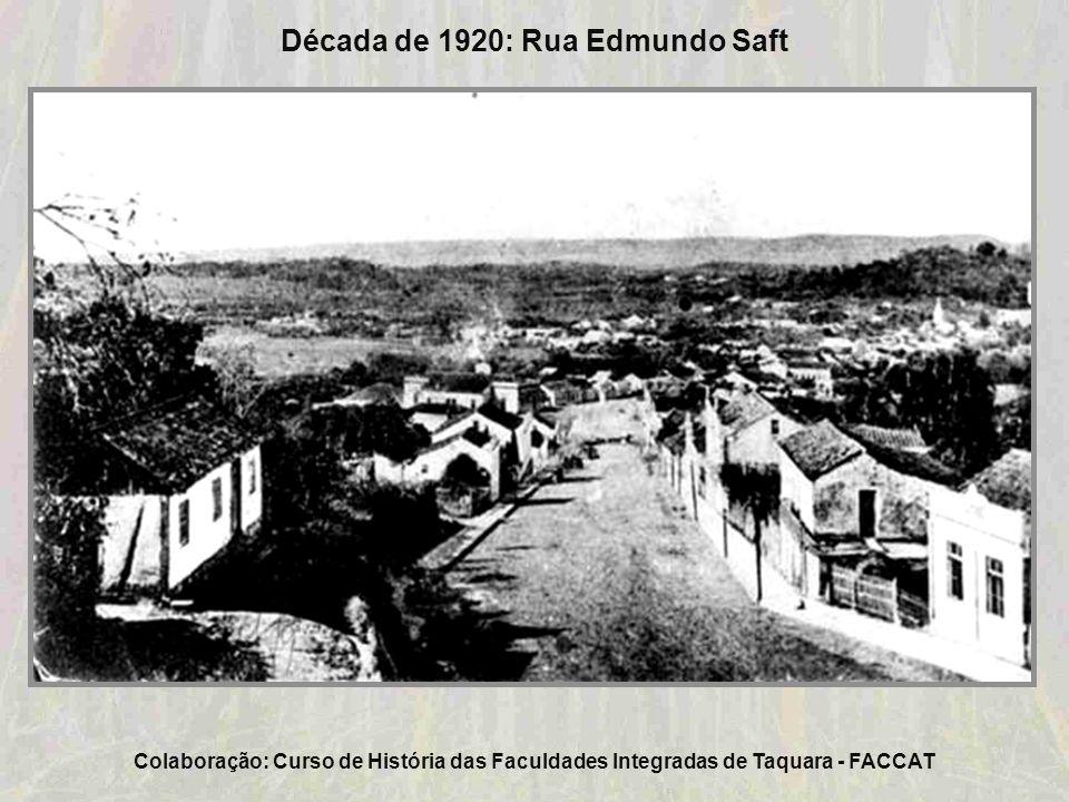 Década de 1920: Vista da Estação Férrea de Taquara a partir da rua Tristão Monteiro Colaboração: Juarez Sérgio Müller