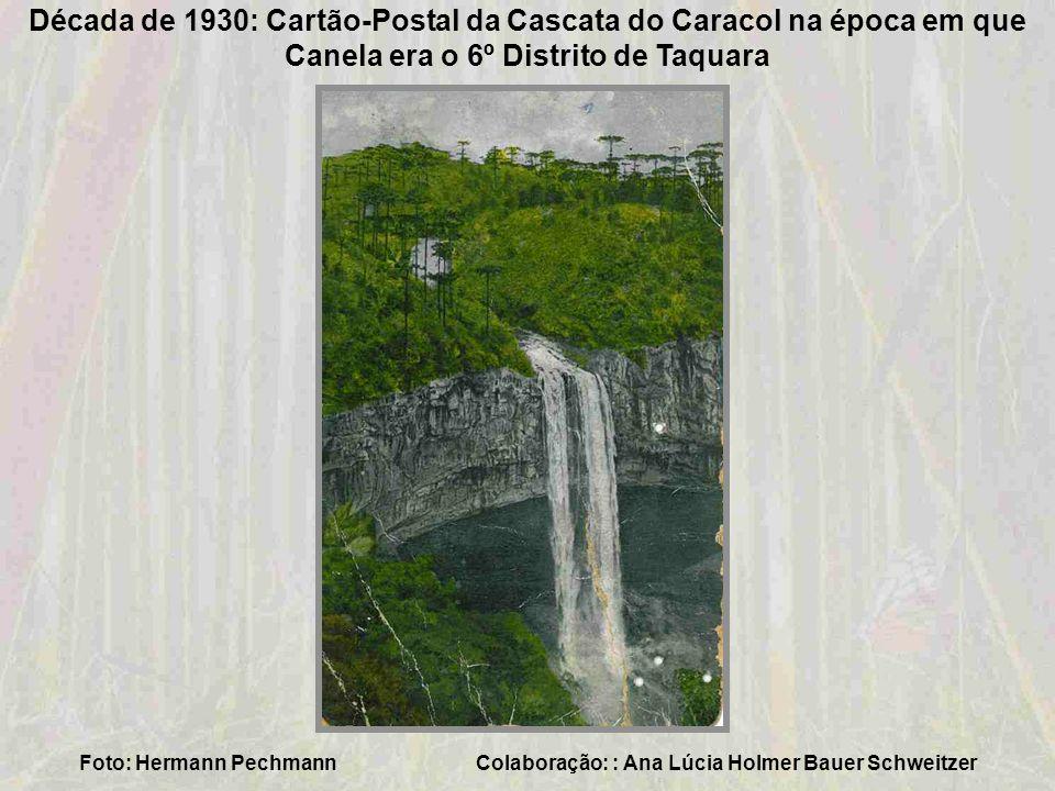 Década de 1930- Vista aérea de Taquara Colaboração: Ana Lúcia Holmer Bauer Schweitzer