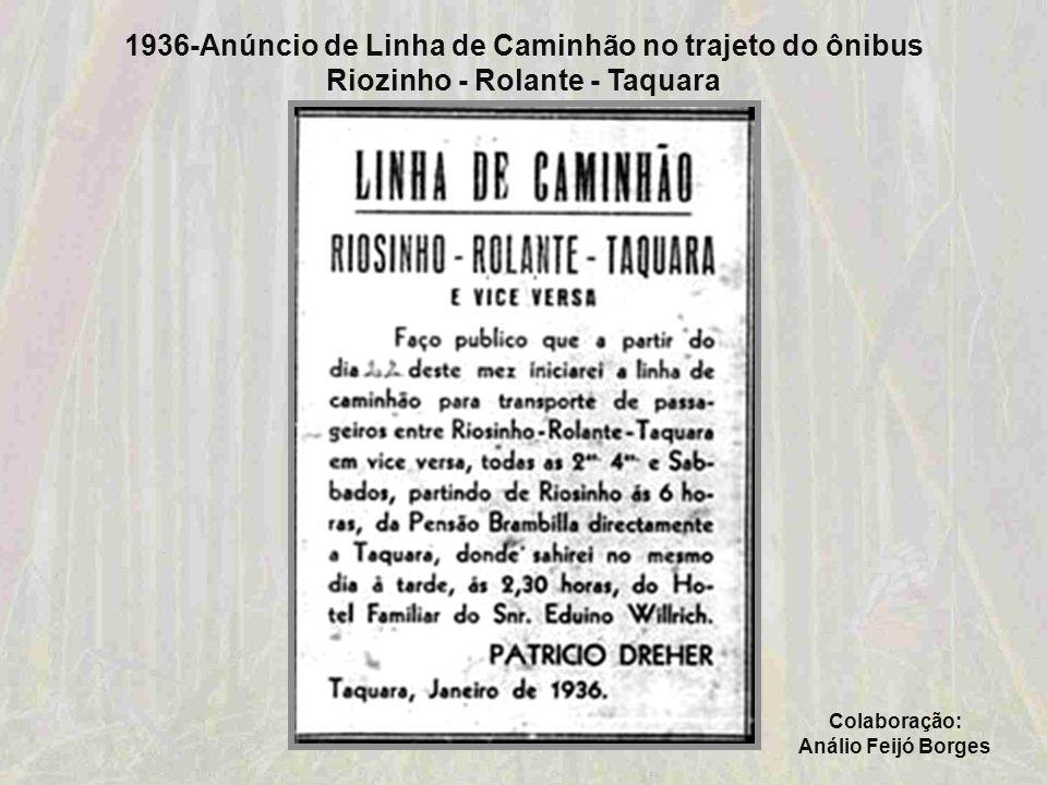 1936-Sociedade 5 de Maio Colaboração: Curso de História das Faculdades Integradas de Taquara - FACCAT