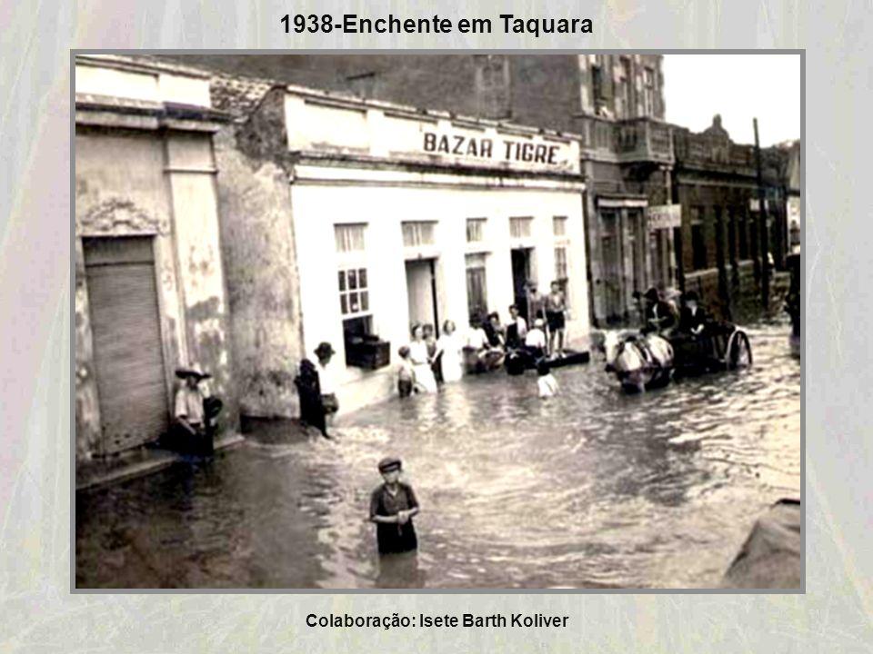 Colaboração: Isete Barth Koliver 1936-Anúncio de Linha de Caminhão no trajeto do ônibus Riozinho - Rolante - Taquara Colaboração: Análio Feijó Borges