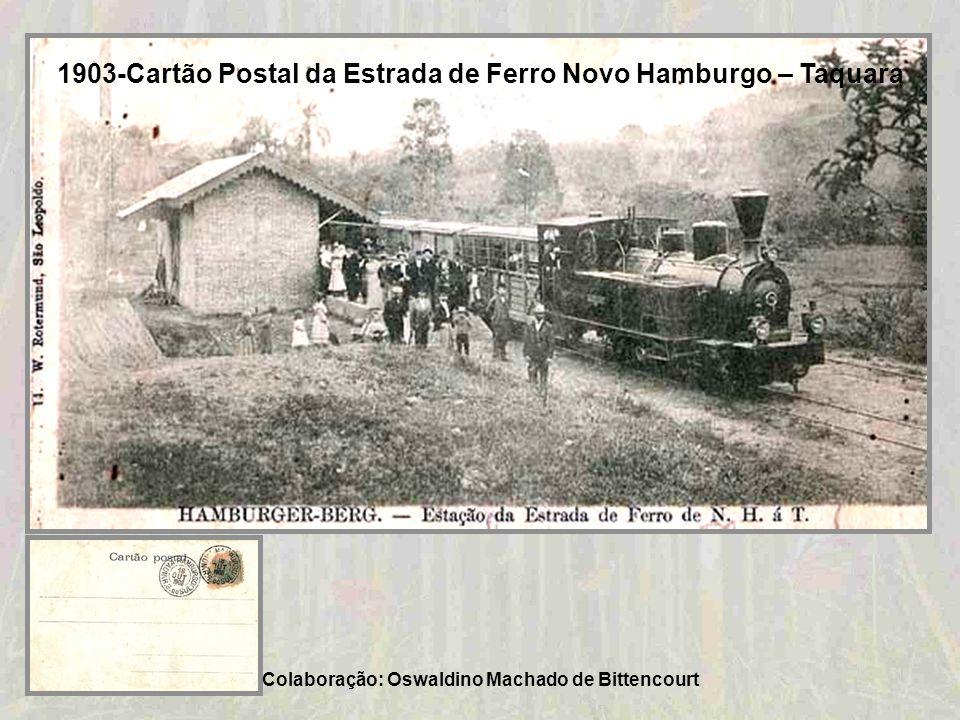 Prefeitura Municipal de Taquara - Palácio Coronel Diniz Martins Rangel - Inaugurado em 20/12/1908 Colaboração: Curso de História das Faculdades Integr