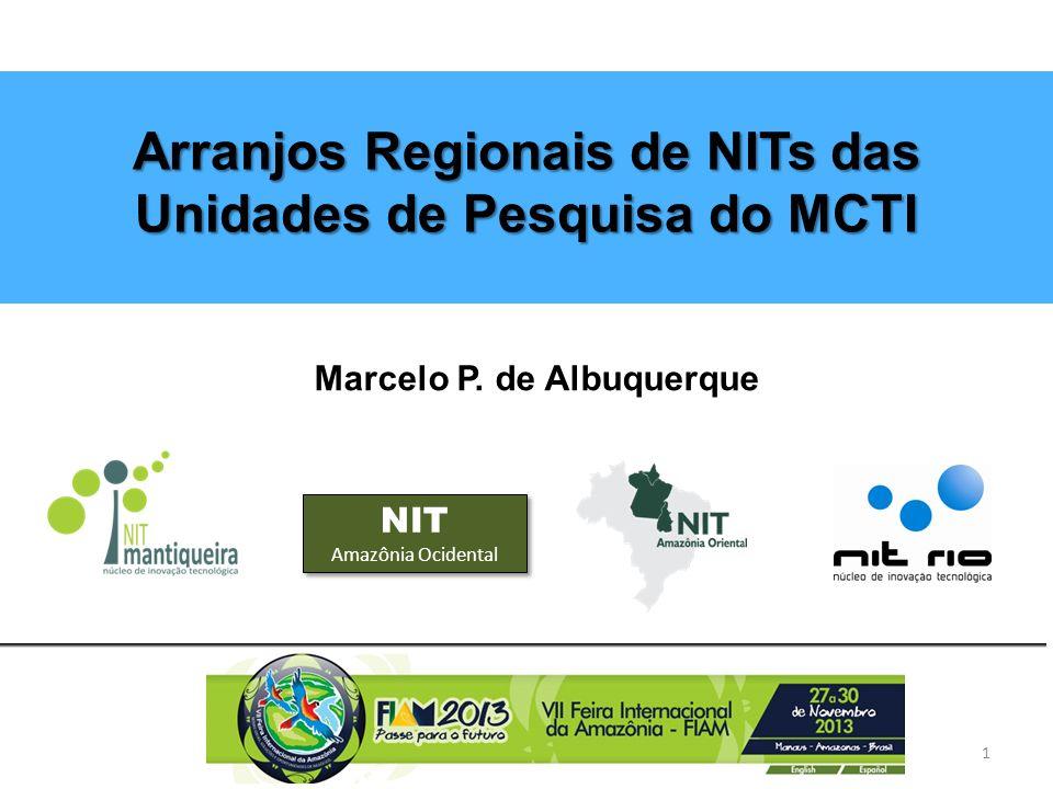 Núcleos de Inovação Tecnológica ICTs (Unidades de Pesquisas - MCTI) Empresas NITs Lei da Inovação – 10.973/04 Art.