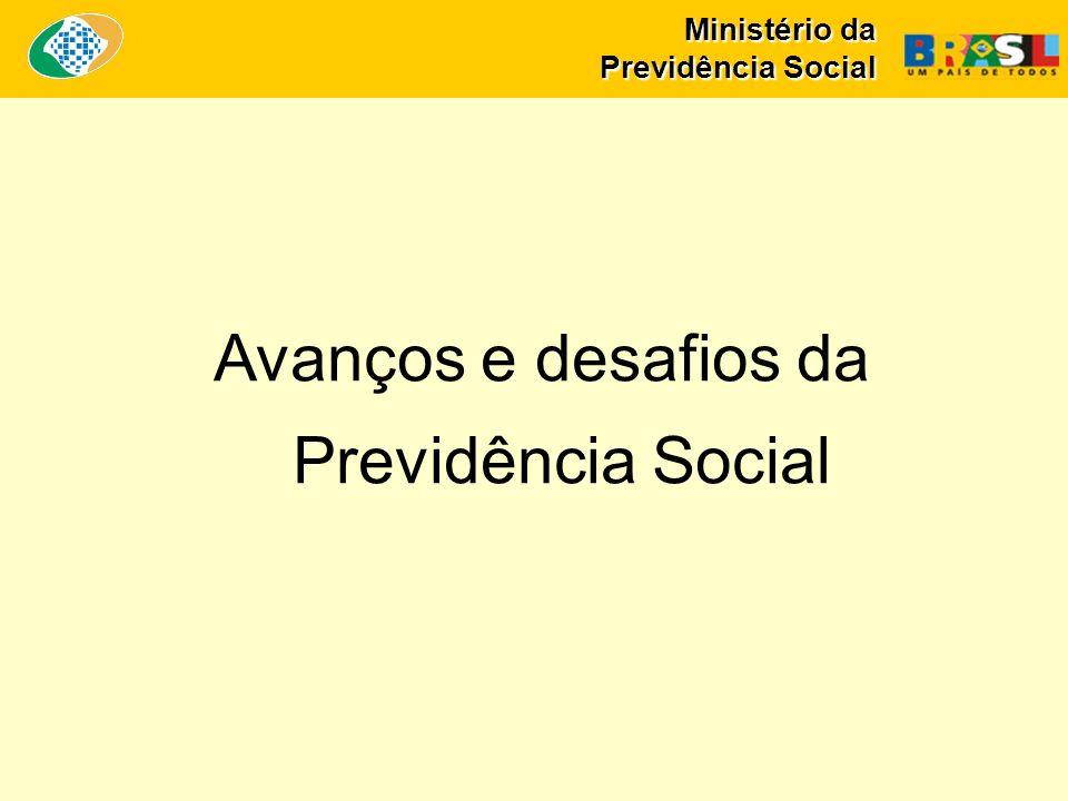 Ministério da Previdência Social Avanços e desafios da Previdência Social