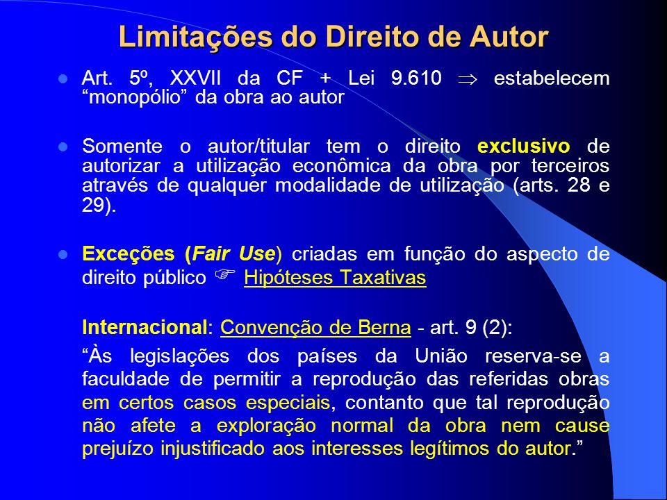 Limitações do Direito de Autor Art.