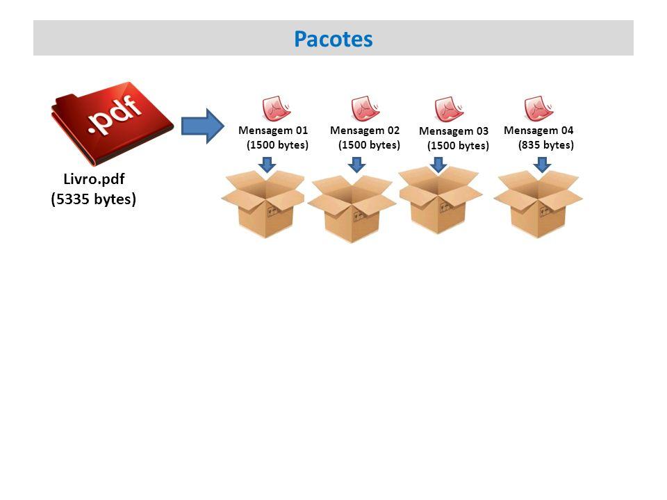 Livro.pdf (5335 bytes) Mensagem 01 (1500 bytes) Mensagem 02 (1500 bytes) Mensagem 03 (1500 bytes) Mensagem 04 (835 bytes) Pacotes