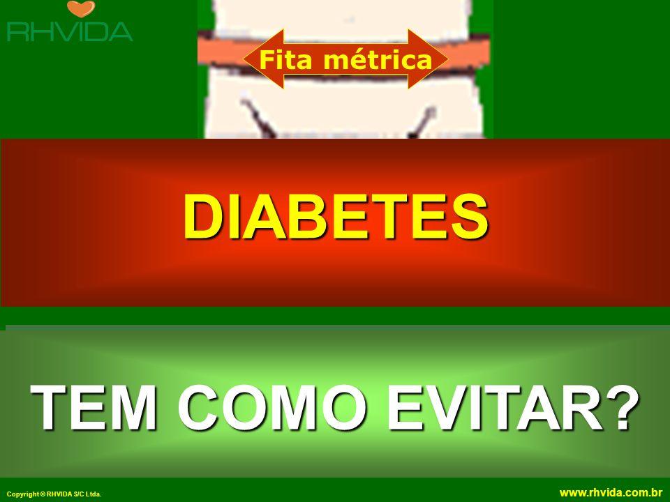 Copyright © RHVIDA S/C Ltda. www.rhvida.com.br TEM COMO EVITAR? Fita métrica DIABETES