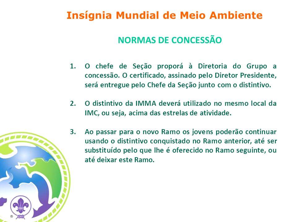1.O chefe de Seção proporá à Diretoria do Grupo a concessão. O certificado, assinado pelo Diretor Presidente, será entregue pelo Chefe da Seção junto
