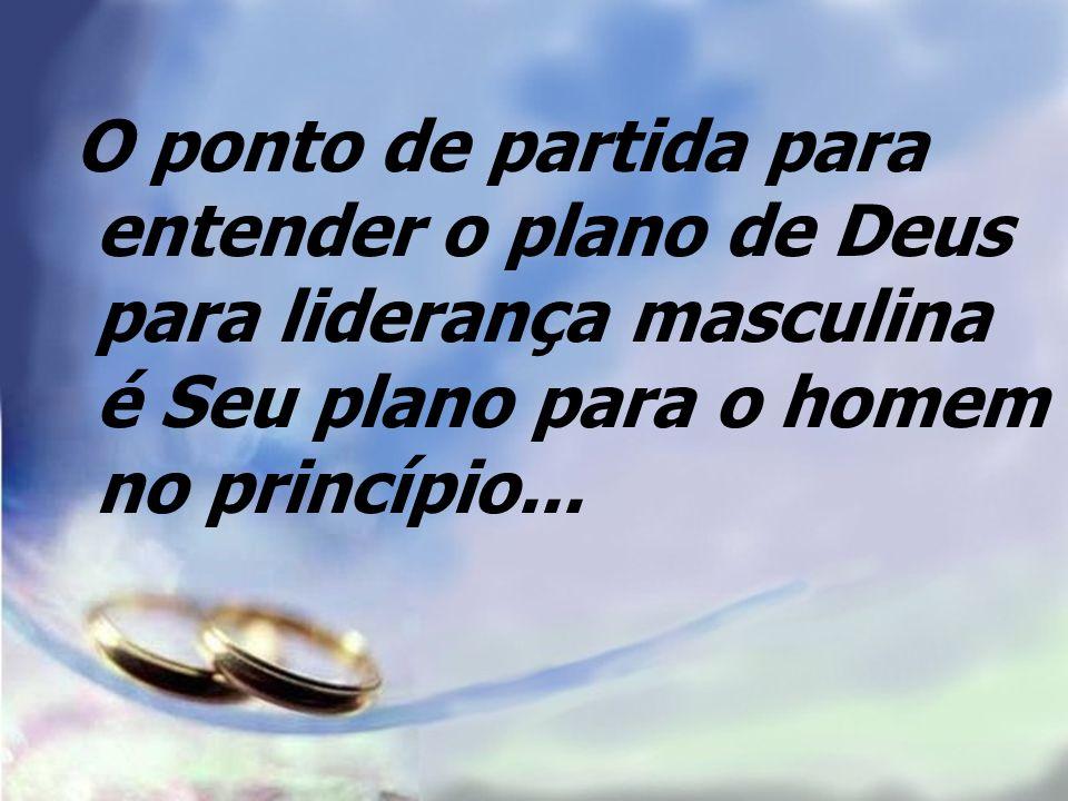 O ponto de partida para entender o plano de Deus para liderança masculina é Seu plano para o homem no princípio...