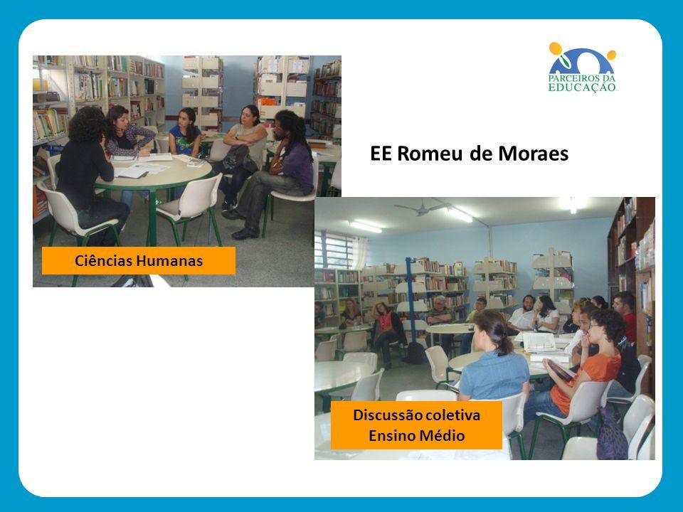 As fotos poderão ser qui. Ciências Humanas Discussão coletiva Ensino Médio EE Romeu de Moraes
