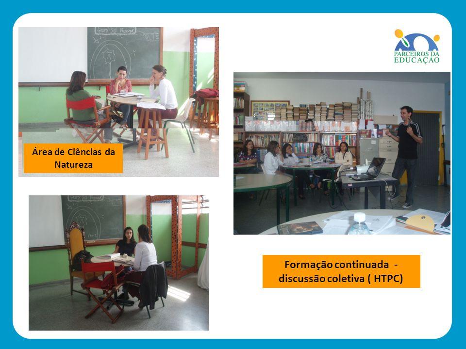 Formação continuada - discussão coletiva ( HTPC) Área de Ciências da Natureza