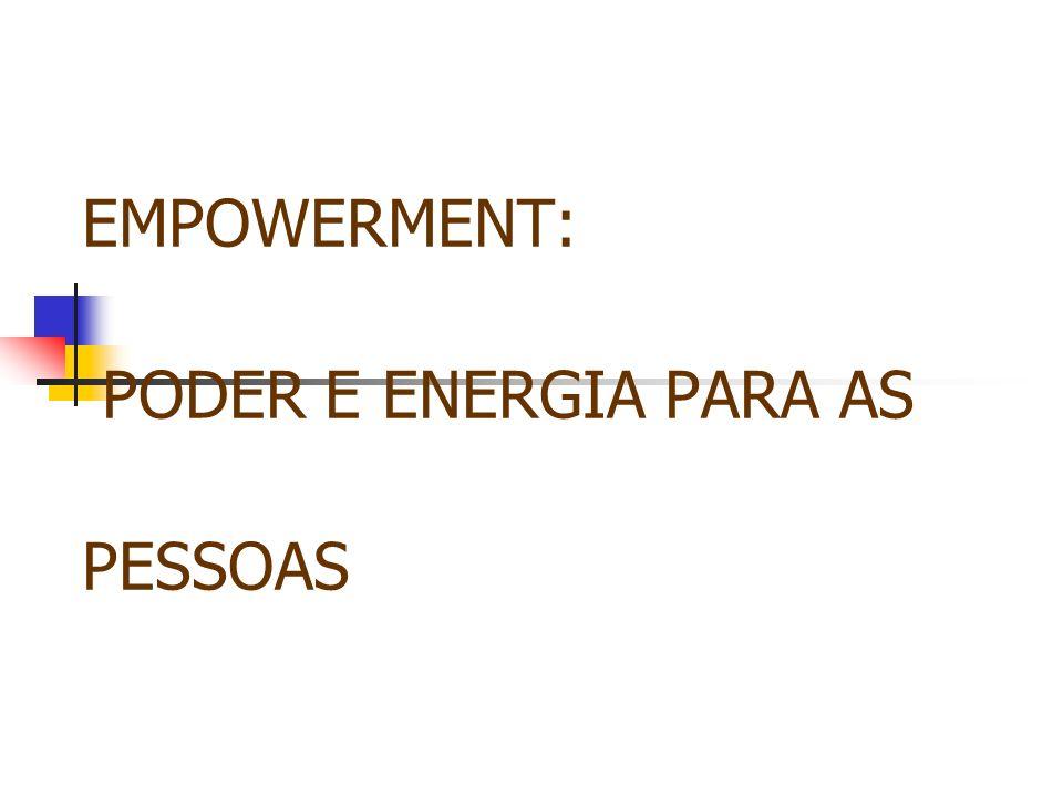 EMPOWERMENT: PODER E ENERGIA PARA AS PESSOAS
