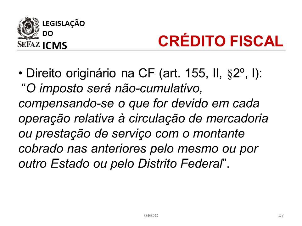 47 Direito originário na CF (art.