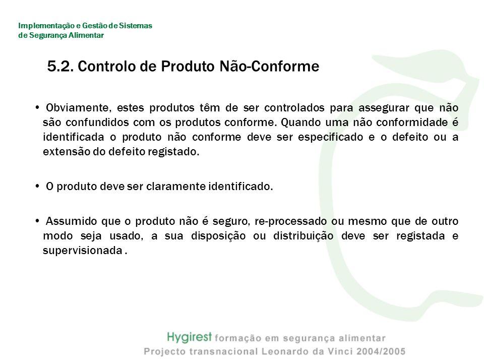 Obviamente, estes produtos têm de ser controlados para assegurar que não são confundidos com os produtos conforme.