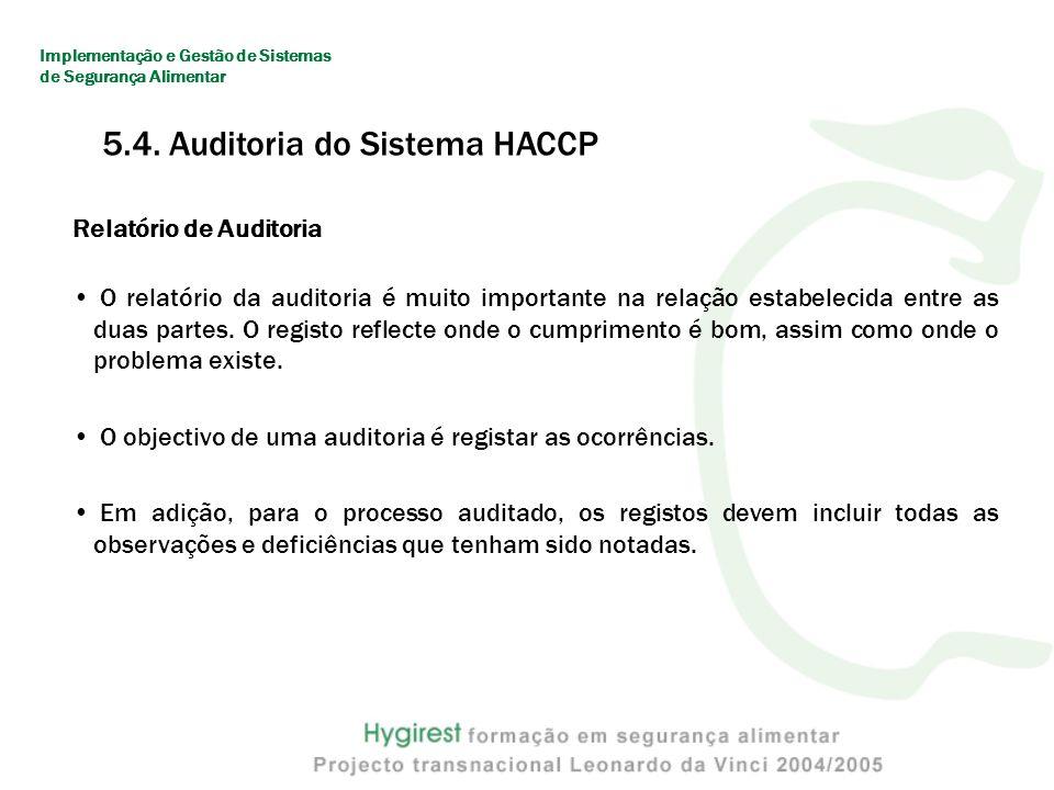 Relatório de Auditoria O relatório da auditoria é muito importante na relação estabelecida entre as duas partes.