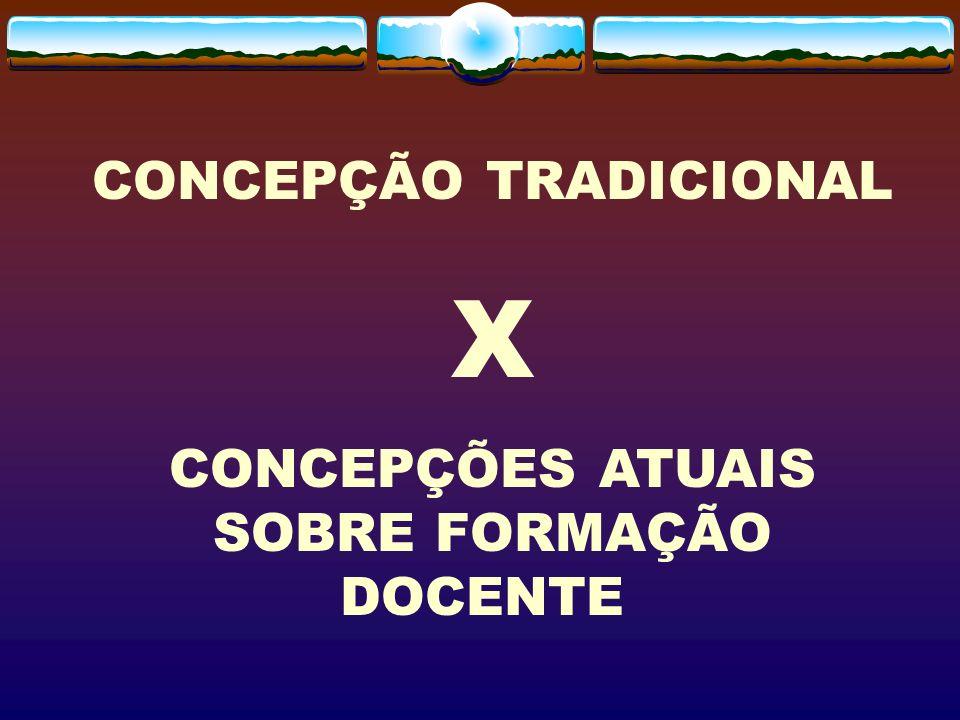 CONCEPÇÃO TRADICIONAL X CONCEPÇÕES ATUAIS SOBRE FORMAÇÃO DOCENTE