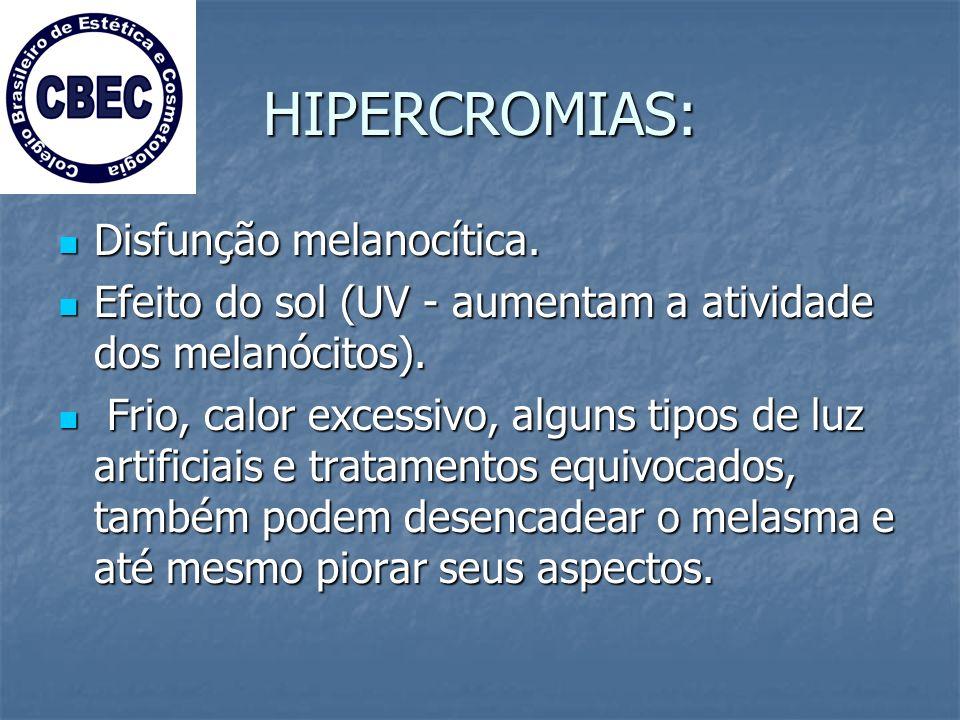 HIPERCROMIAS: Disfunção melanocítica.Disfunção melanocítica.