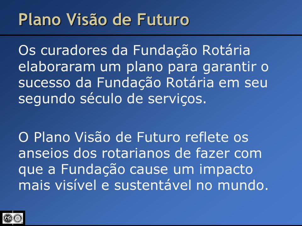 Plano Visão de Futuro Os curadores da Fundação Rotária elaboraram um plano para garantir o sucesso da Fundação Rotária em seu segundo século de serviç