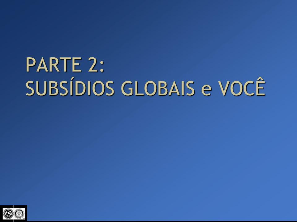 PARTE 2: SUBSÍDIOS GLOBAIS e VOCÊ