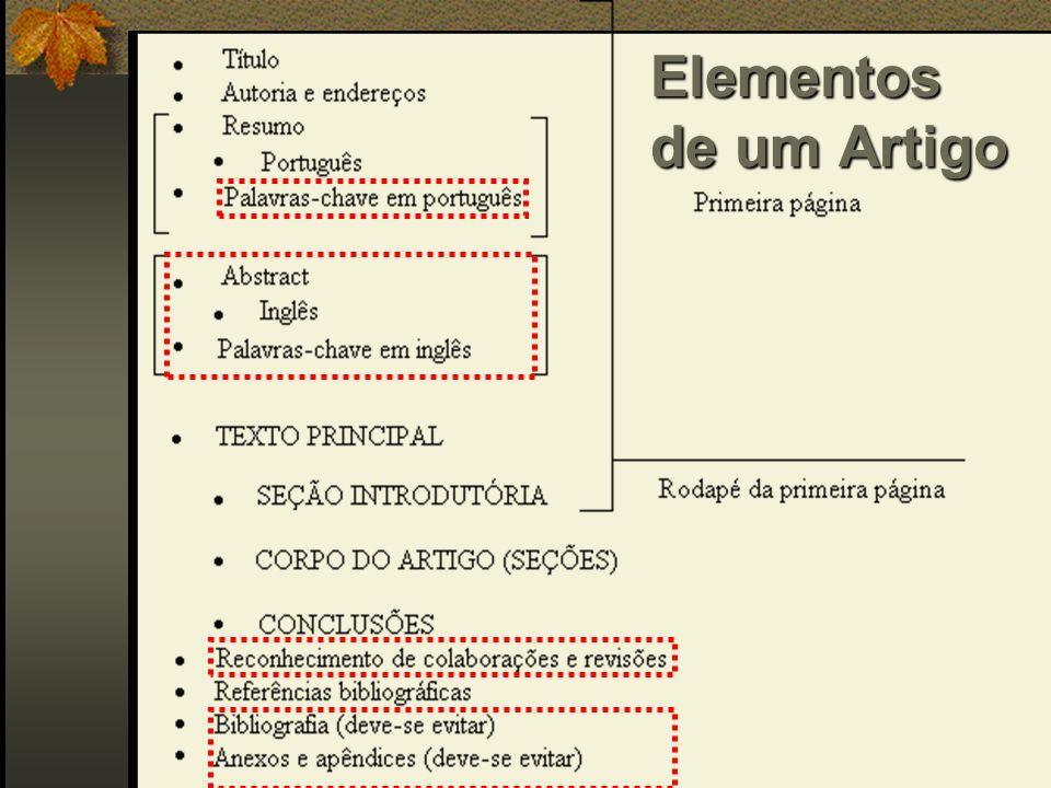 Elementos de um Artigo