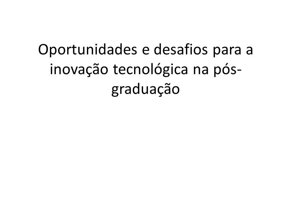 Oportunidades e desafios para a inovação tecnológica na pós- graduação