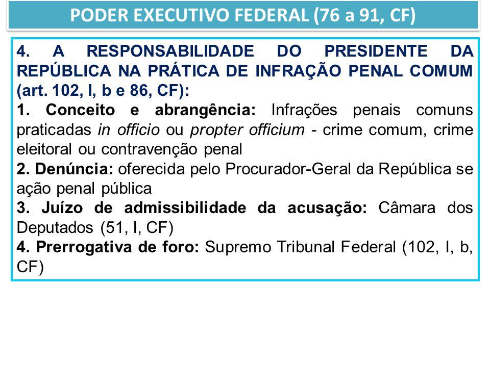 4.A RESPONSABILIDADE DO PRESIDENTE DA REPÚBLICA NA PRÁTICA DE INFRAÇÃO PENAL COMUM (art.