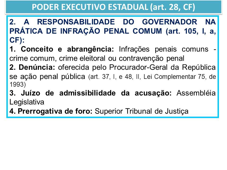 2.A RESPONSABILIDADE DO GOVERNADOR NA PRÁTICA DE INFRAÇÃO PENAL COMUM (art.