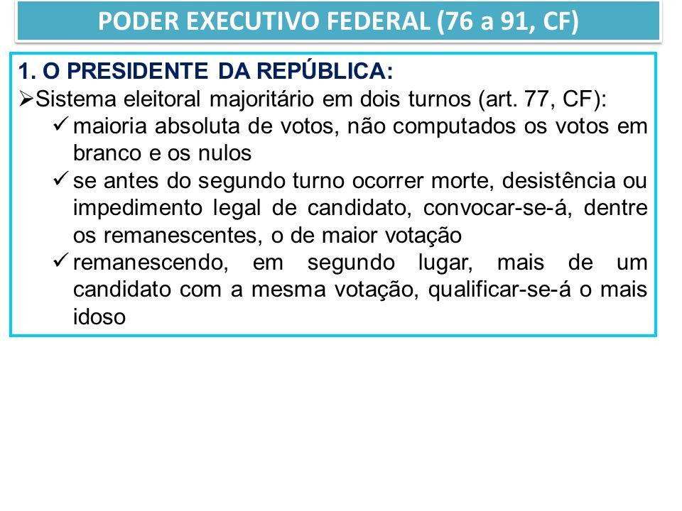 PODER EXECUTIVO FEDERAL (76 a 91, CF) 1.