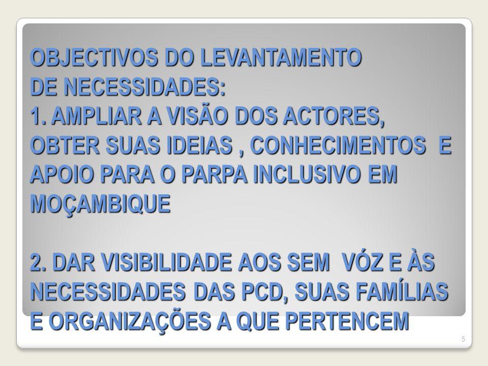 OBJECTIVOS DO LEVANTAMENTO DE NECESSIDADES: 1.
