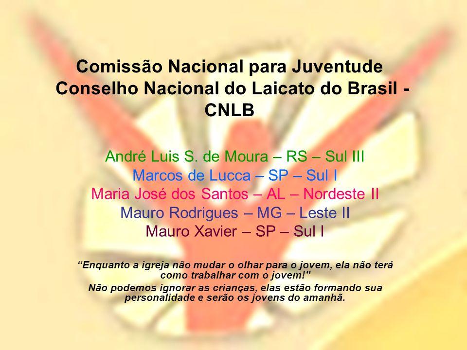 Comissão Nacional para Juventude Conselho Nacional do Laicato do Brasil - CNLB André Luis S.