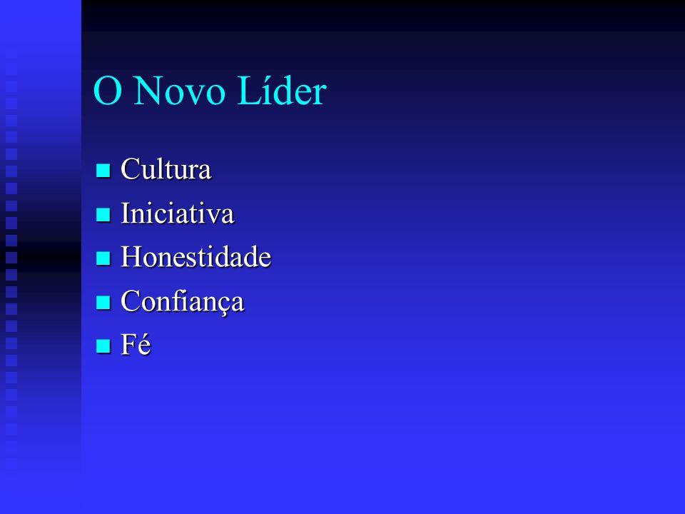 O Novo Líder Cultura Cultura Iniciativa Iniciativa Honestidade Honestidade Confiança Confiança Fé Fé
